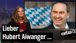 Sarah Bosetti antwortet Impfskeptiker Hubert Aiwanger