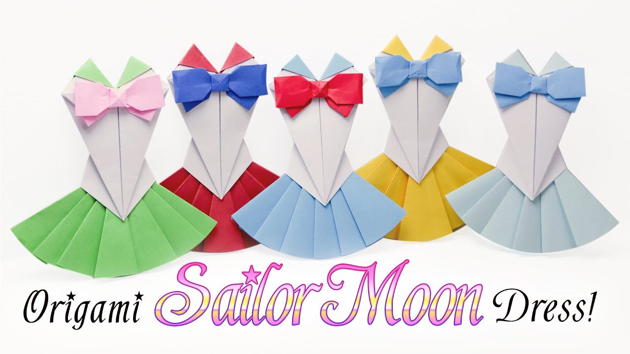 Origami Sailor Moon Dress Tutorial 👗 Diy 👗 Youtube