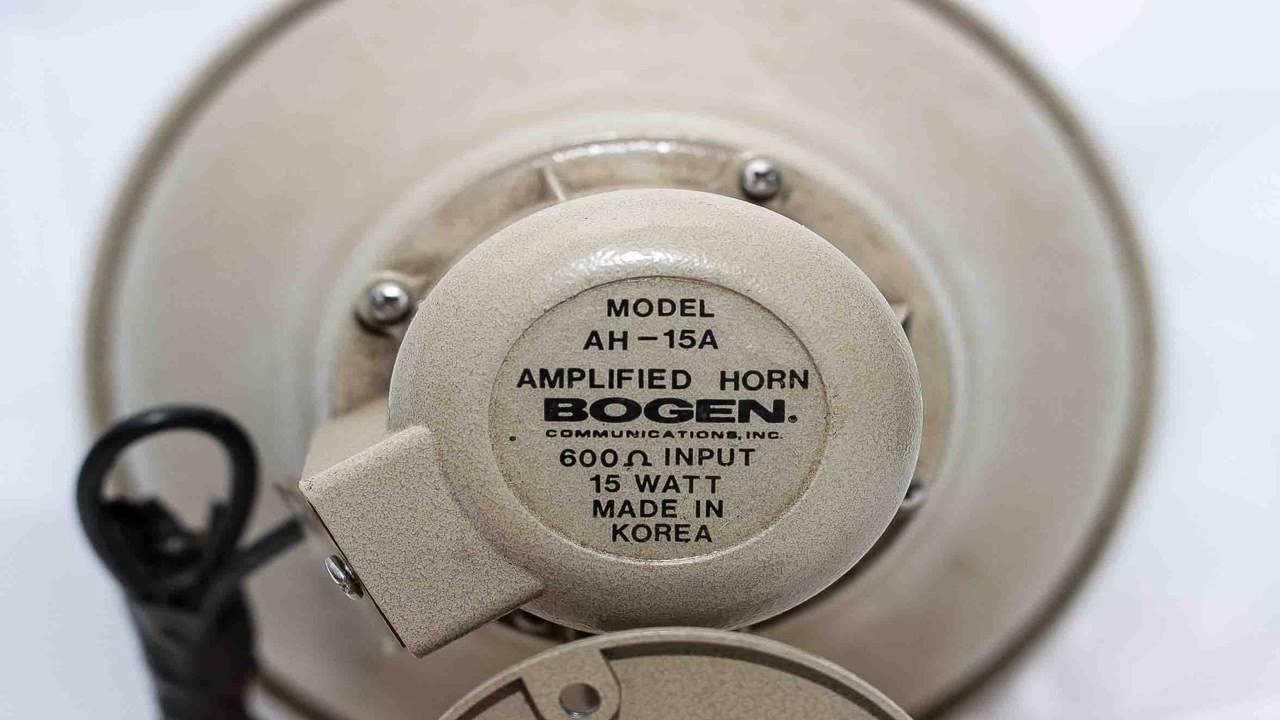 Bogen 15 Watt Horn Youtube 70v Speaker Wiring Diagram