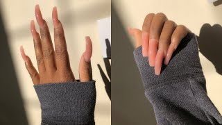 HOW I DO MY OWN NAILS AT HOME *super cheap* | beginner friendly polygel tutorial