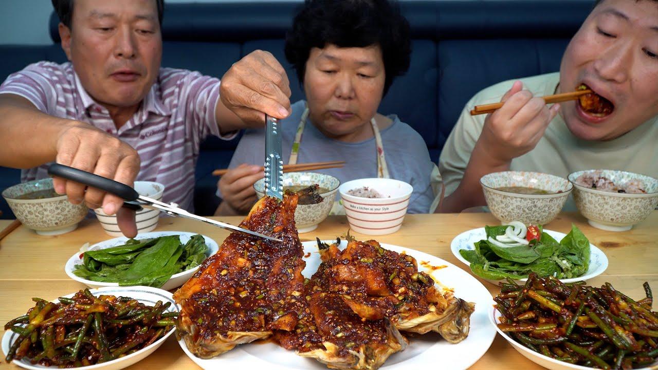 직접 담근 콩잎 김치와 황태찜, 마늘종무침 밥 한 그릇 뚝딱! (Bean leaf Kimchi, Korean dishes) 요리&먹방!! - Mukbang eating show