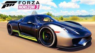 FORZA HORIZON 3 - PORSCHE SPYDER nos 430Km/h!!! INSANO