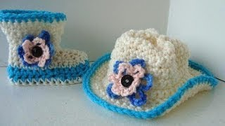 Crochet A Cowboy Hat, Newborn To 3 Months