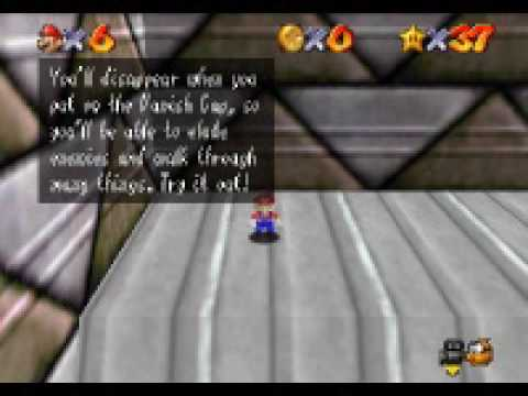 Super Mario 64 - Vanish Cap Under The Moat Blue Switch - 8 Red Coins -  YouTube