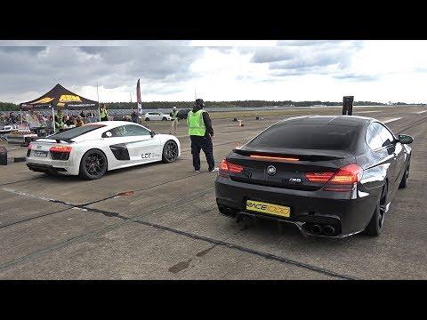 900HP Audi R8 V10 Twin Turbo Vs 1000HP BMW M6 F13 HPT One X