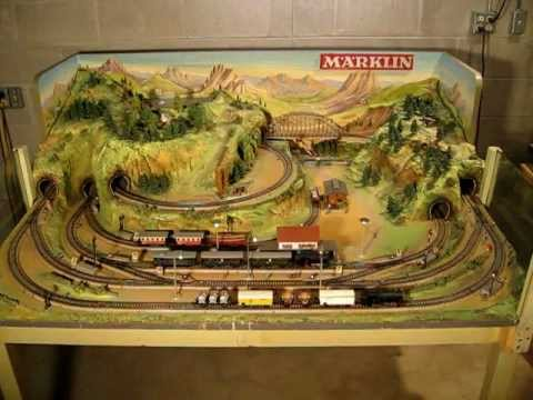 Marklin Factory Built Layout No. 0046 circa 1960 - YouTube