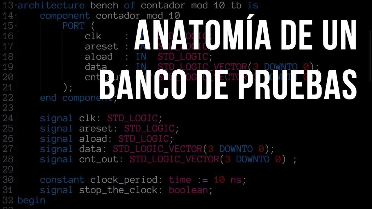 Anatomía de un banco de pruebas en VHDL - YouTube