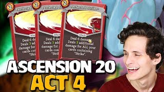 Slay The Spire - Ascension 20 Act 4 Ironclad Perfected Strike Goes All The Way