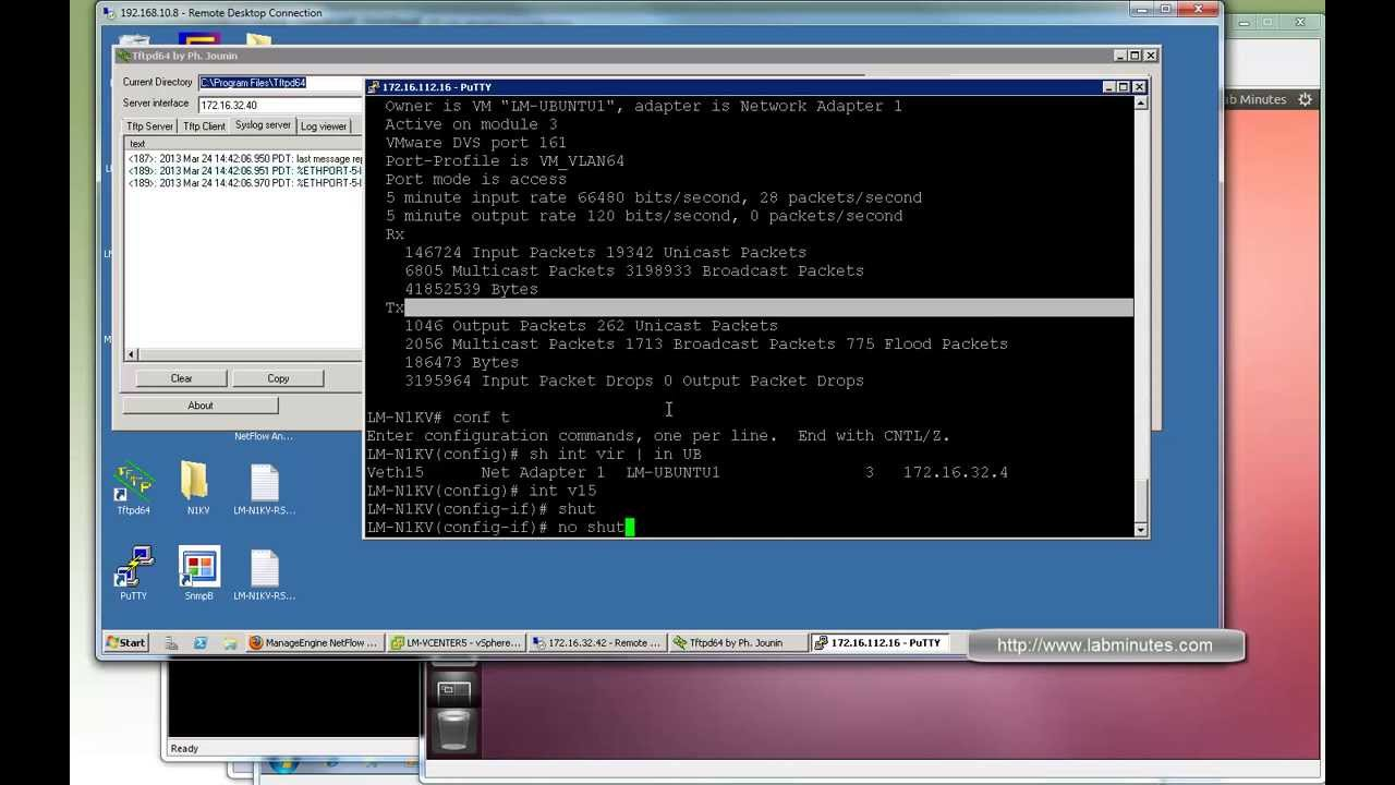 LabMinutes# RS0030 - Cisco Nexus 1000V DHCP Snooping, DAI, and IP Source  Guard