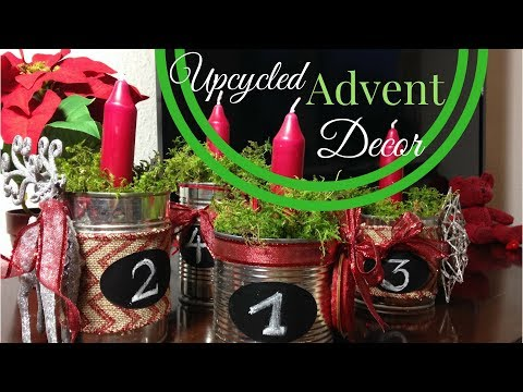 Upcycled Christmas Advent Decoration from Recycled Tin Cans | Part 1