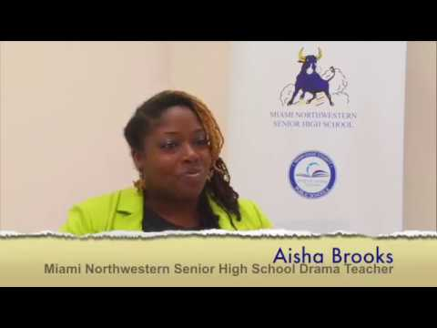 Aisha Brooks, Mindful Drama teacher at Miami Northwestern Senior High School