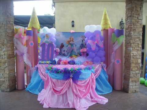 Decoracion fiestas infantiles pinketadas youtube for Decoracion cumpleanos princesas