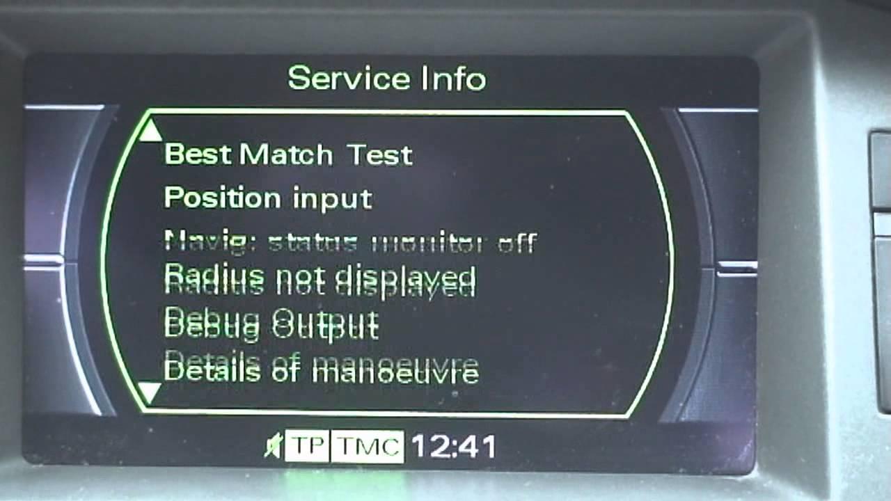 Audi A6 4f Mmi 2g Hidden Menu Skryte Menu Youtube