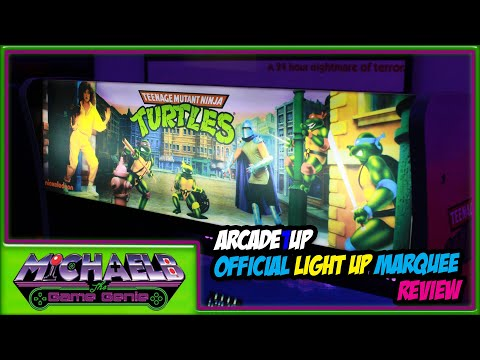 Arcade1Up Official Light Up Marquee Review | MichaelBtheGameGenie from MichaelBtheGameGenie