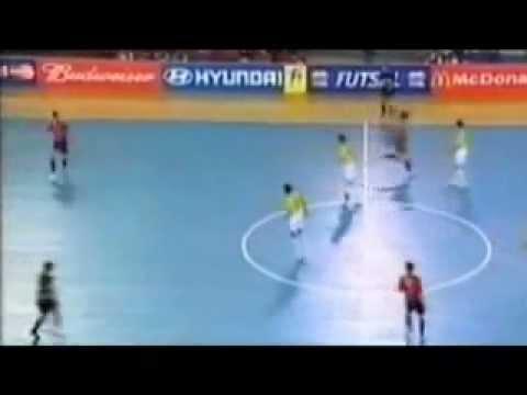 España vs Brasil MUNDIAL 2000 Coleccion futsal Spain vs Brazil futbol sala