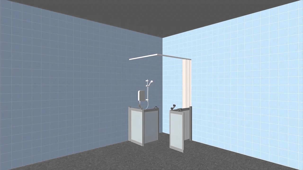 Contour Wf4 Half Height Shower Enclosure Youtube