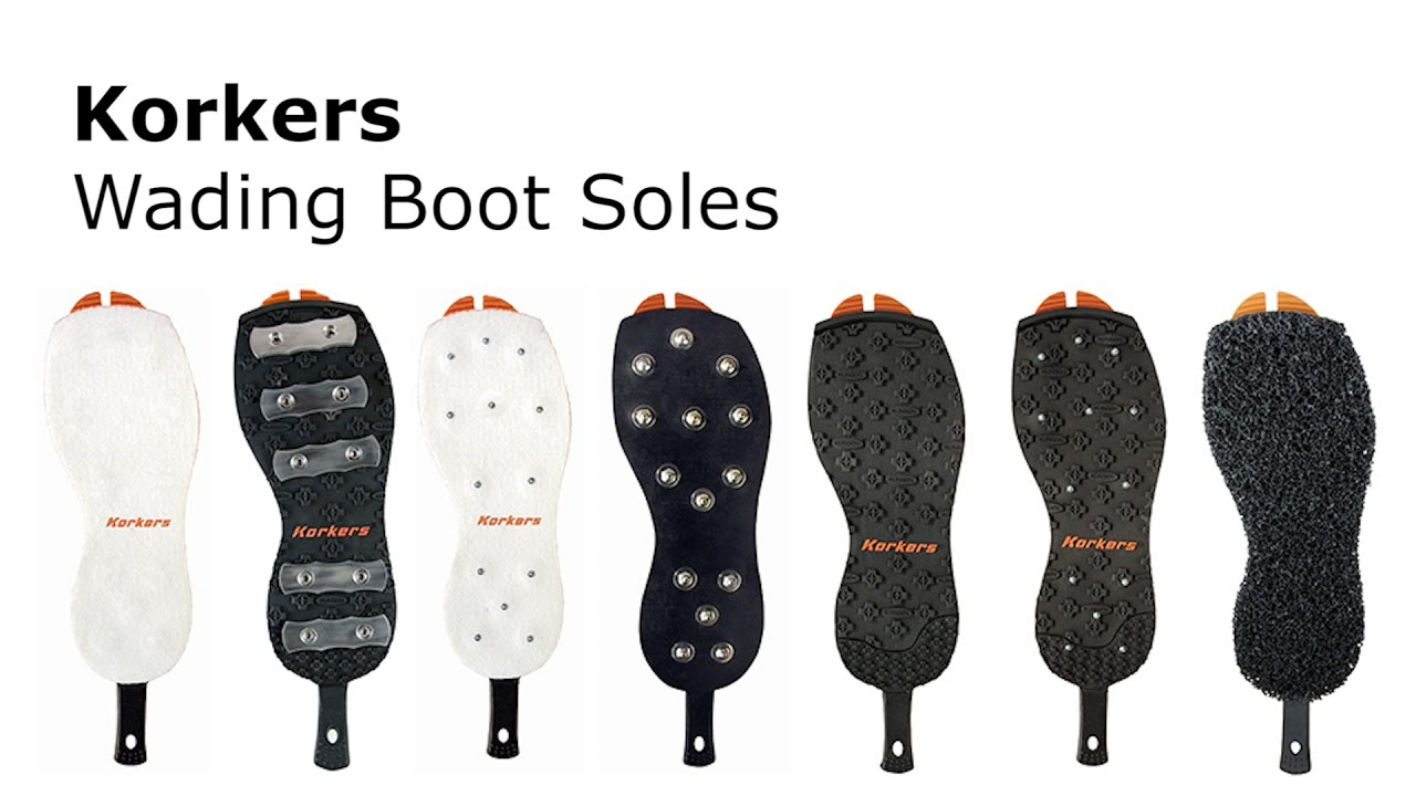 Korkers OmniTrax v3.0 Fly Fishing Studded Felt Wading Boot Replacement Soles