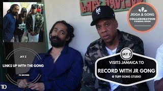 JAY Z visits JAMAICA to RECORD with DAMIAN Jr Gong MARLEY @ TUFF GONG Studio in KINGSTON