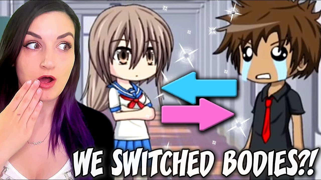 SWITCHED BODIES WITH SOMEONE I HATE?! | Funny Gacha Studio Story Reaction