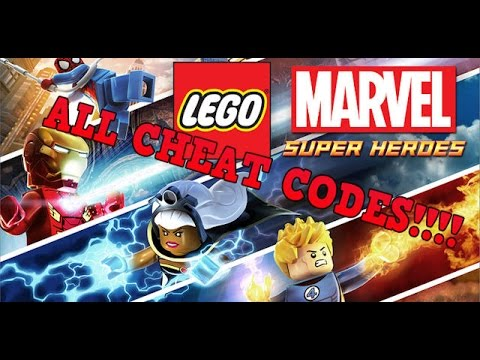 LEGO MARVEL SUPERHEROES: ALL CHEAT CODES!!!!