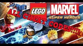 LEGO MARVEL SUPERHEROES: ALL CHEAT CODES!!!!