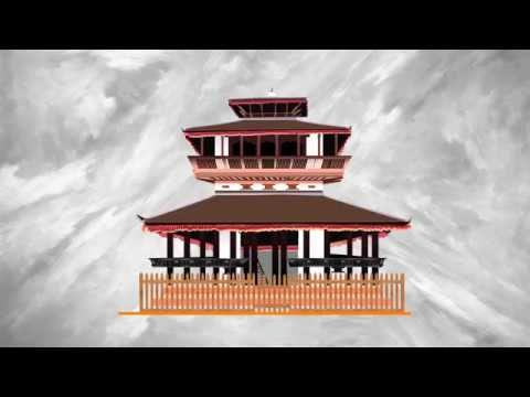 Infographic On Kasthamandap Temple, Nepal (Motion Graphic)