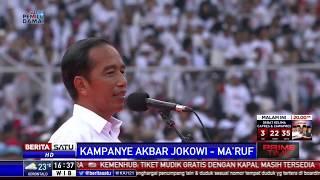 Massa Pendukung Jokowi-Ma'ruf Amin Putihkan GBK
