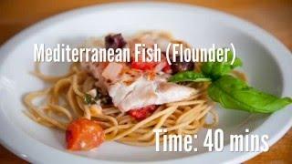 Mediterranean Fish (Flounder) Recipe