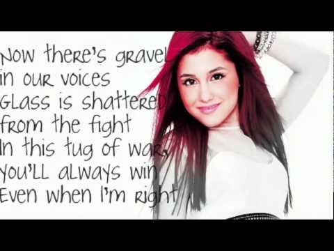 Ariana Grande -  Love The Way You Lie LYRICS!