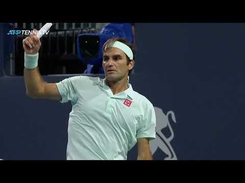 Amazing Roger Federer shots in win over Anderson | Miami Open 2019