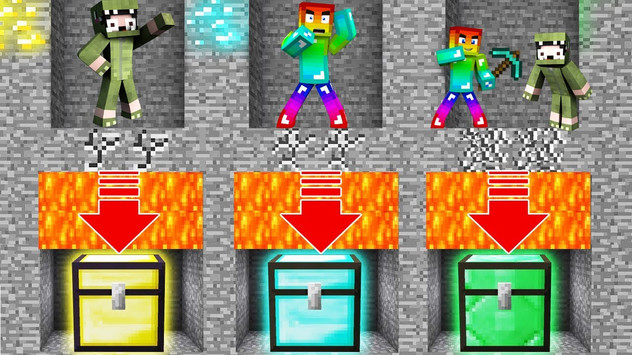 Minecraft, Đừng Nhảy Xuống Lava Vì...?? T Gaming Và Khangg Tìm Thấy Kho Báu Dưới Lava ??