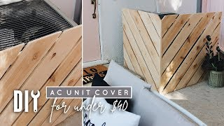 Cheap DIY AC Unit Cover + Battery Powered Miter Saw!!!