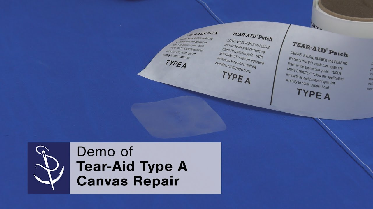 How to Patch Canvas Using Tear-Aid® Type A