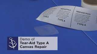 How To Patch Canvas Using Tear Aid Type A Youtube