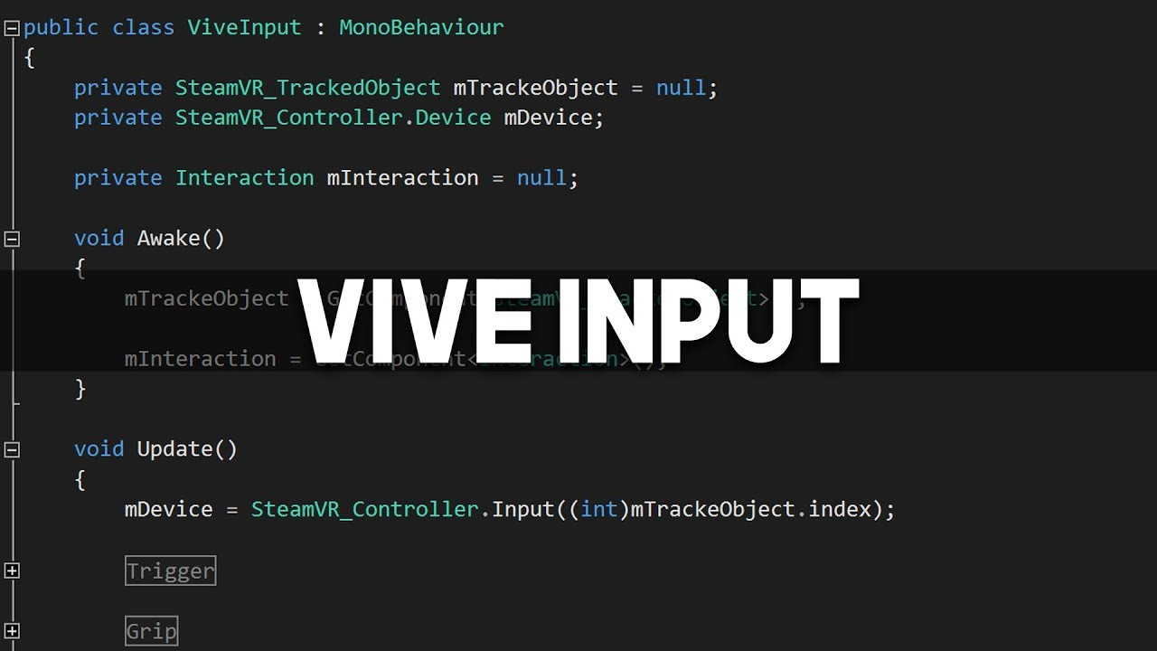 Unity + Vive Tutorial - Controller Input