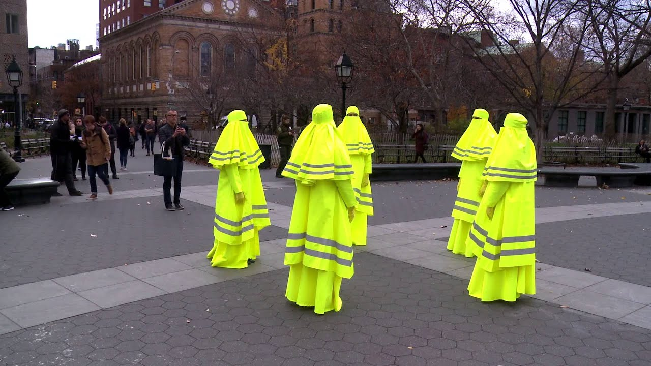 High Visibility Vest >> High Visibility Burqa Art in NY, alongside 'The Tainted Veil' screenings - YouTube