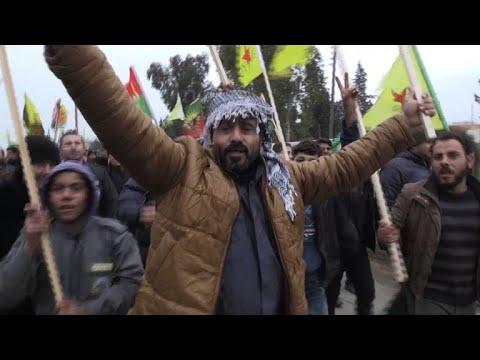 Syrian Kurds protest Turkish threats