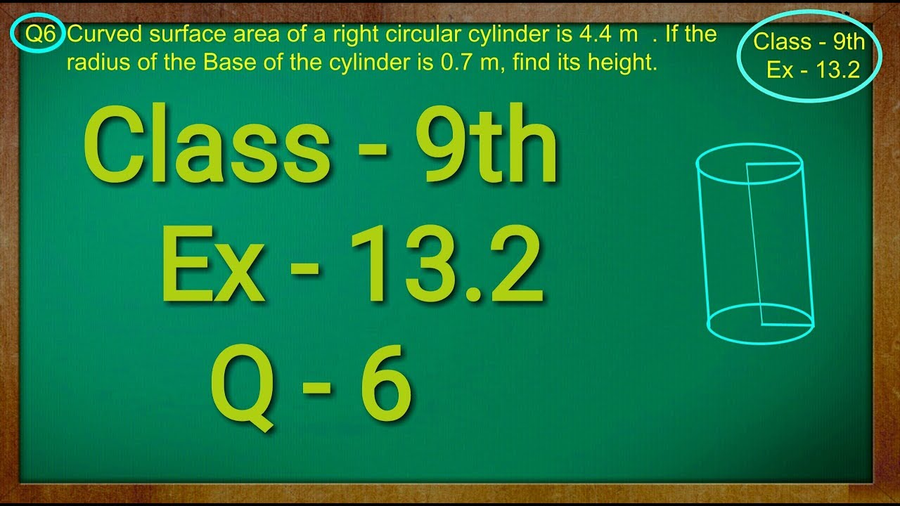 Class 9th , Ex - 13.2, Q 6 ( Surface Areas and Volumes ) CBSE NCERT