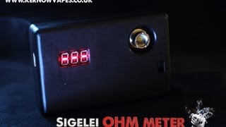 Sigelei OHM Meter Review from www.kernowvapes.co.uk