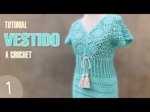 Vestidos a crochet para dama paso a paso