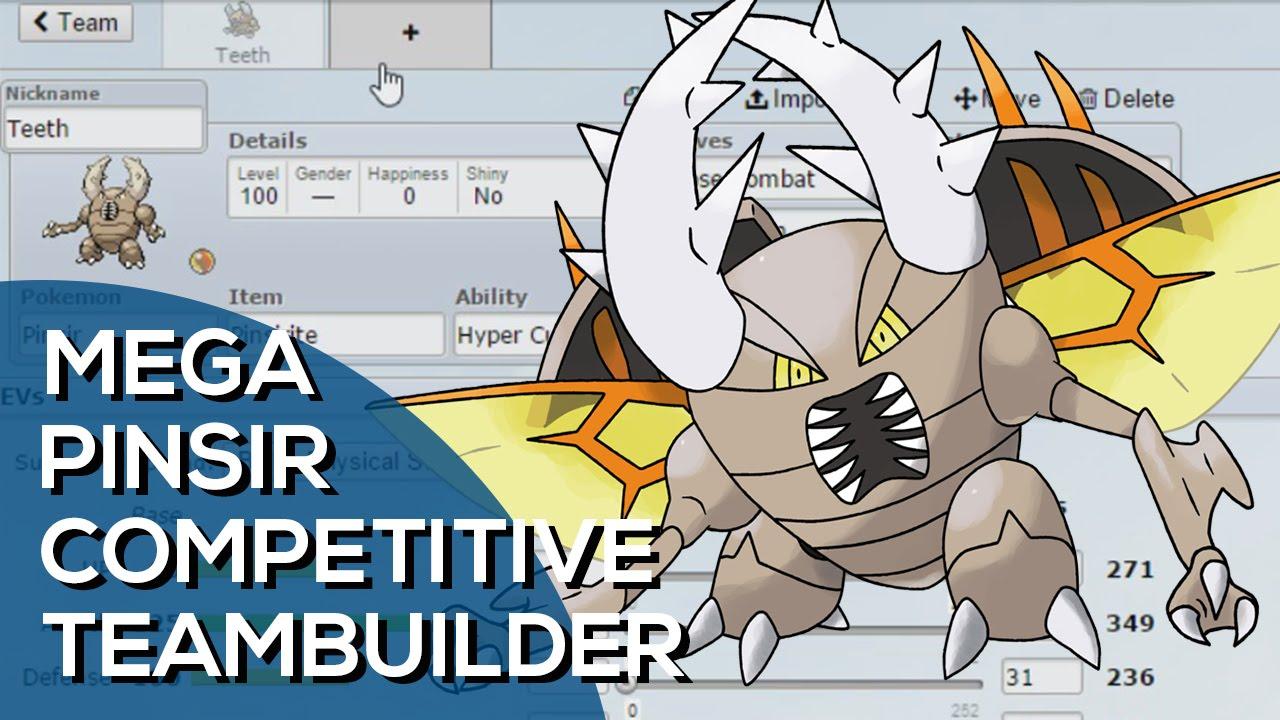 Mega Pinsir Competitive Team Builder Pokemon Showdown Oras Ou Facecam Youtube