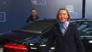 蓬佩奥改变行程 希望与欧盟讨论伊朗问题