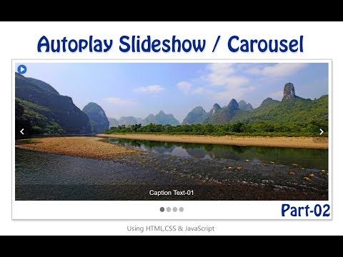 How to create slideshow/carousel using HTML, CSS and JavaScript | Part-02/05
