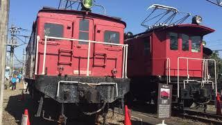 西武秩父線開通50周年記念 車両基地まつりin横瀬 歴代機関車展示