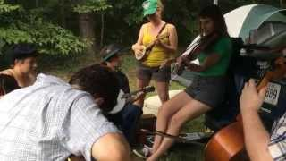 Ozark Rag - Oldtime Ragtime jam - Fiddlers Ashley Carr & Rachel Meir with full rhythm section