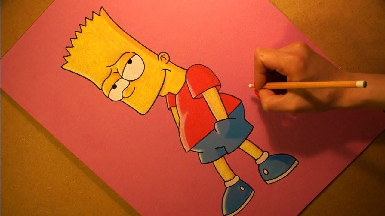 How to Draw Old School Bart Simpson from The Simpsons ...