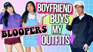 Boyfriend Buys Outfits for Girlfriend BLOOPERS | JensLife