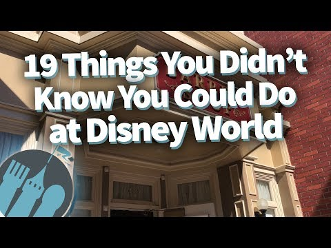 19 Things You Didn't Know You Could Do in Disney World