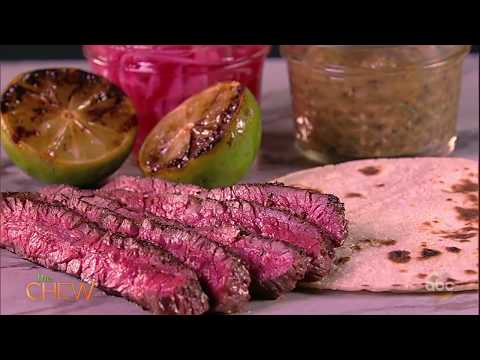 How To Make Grilled Skirt Steak With Charred Tomatillo Salsa | The Chew