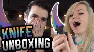 CSGO KNIFE UNBOXING IRL - Unboxing #7 - himmelsschmiede real case opening FR